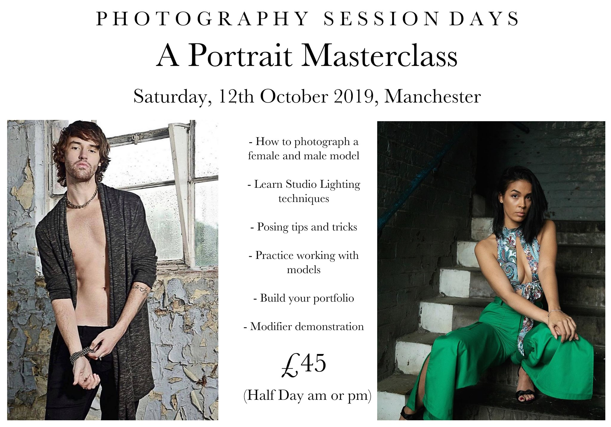 Portrait Masterclass 12th October 2019