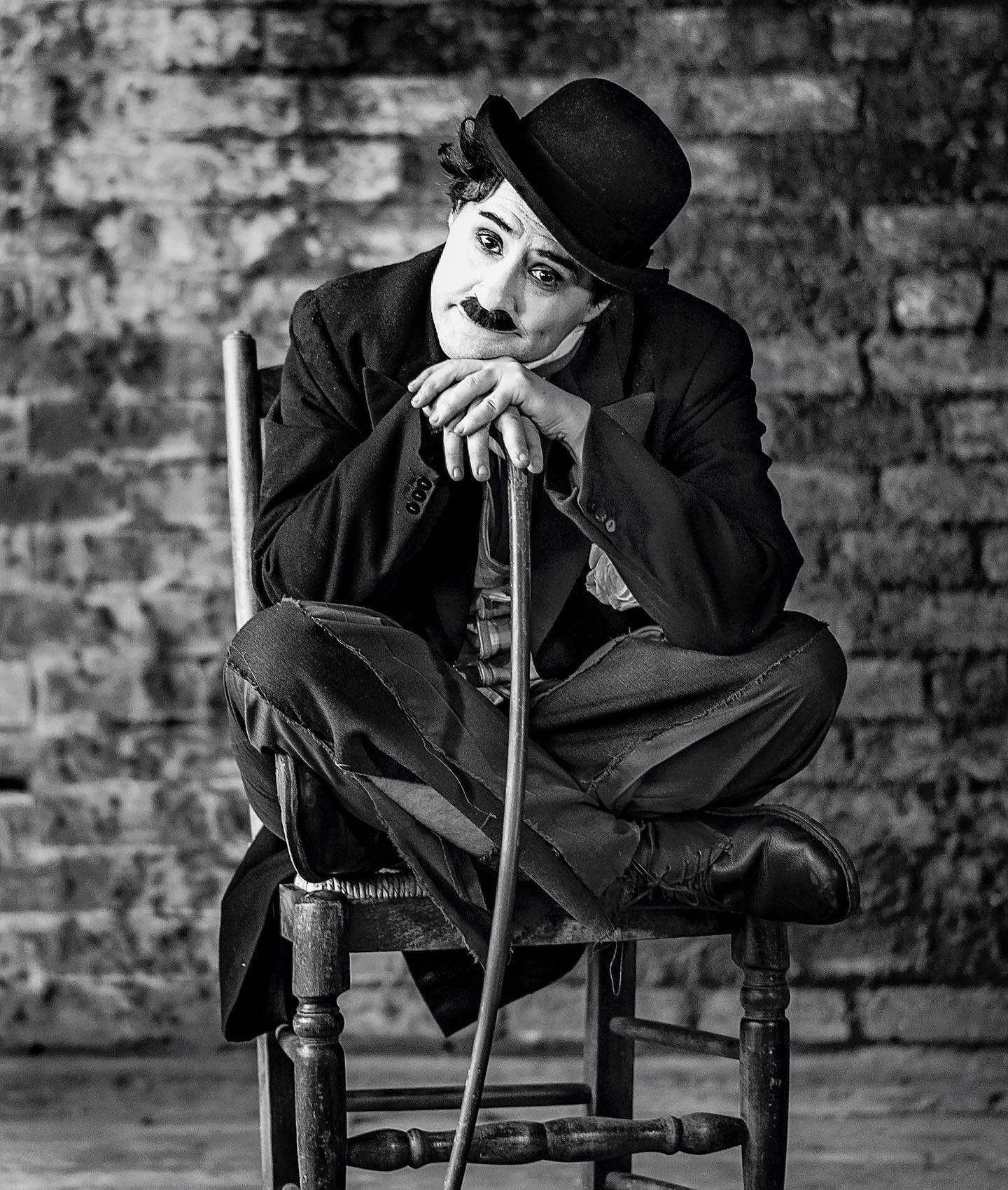 Jack Cutler as Charlie Chaplin by Anna Backlund