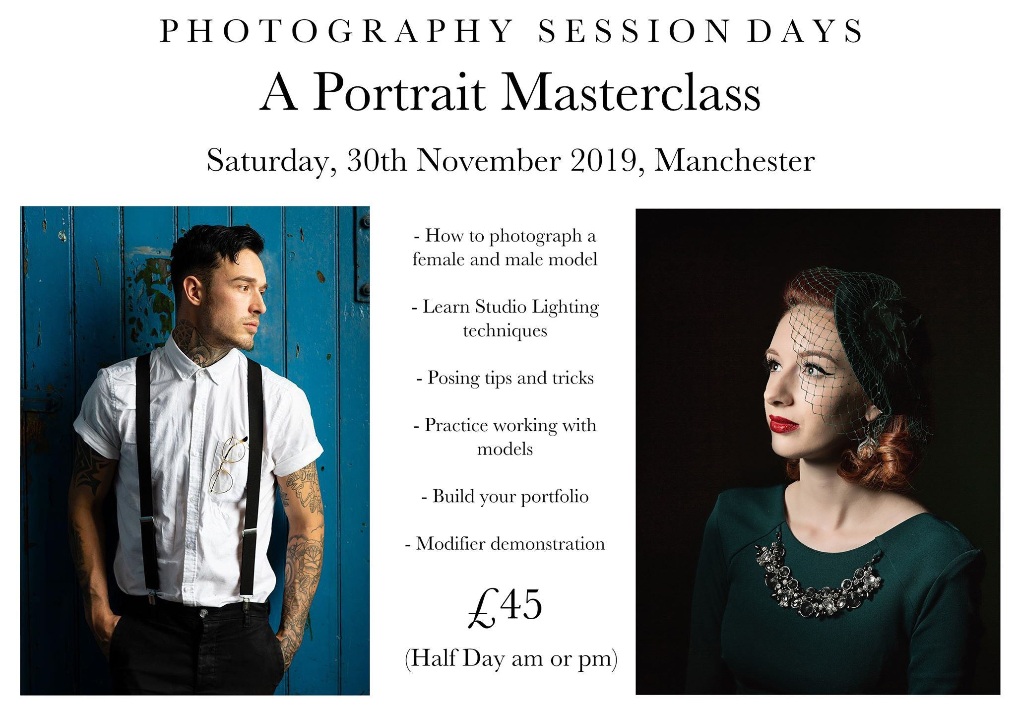 Portrait Masterclass 30th November 2019