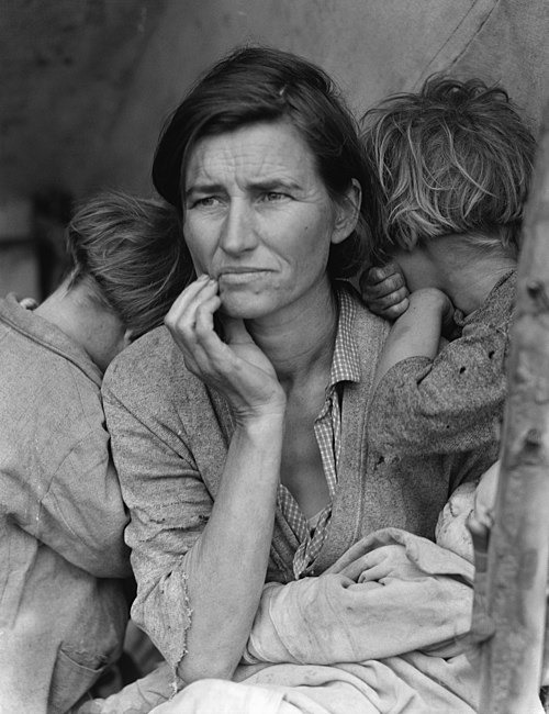 Migrant Mother is by Dorothea Lange